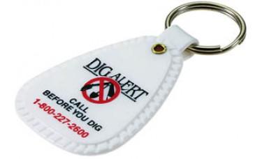 Rigid Plastic Keychains - Saddle