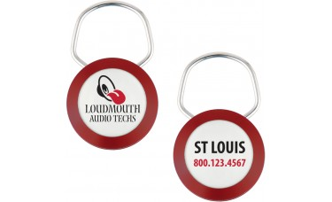 Showring Keychains (1.25 in. Diameter) - 1 Sided Imprint
