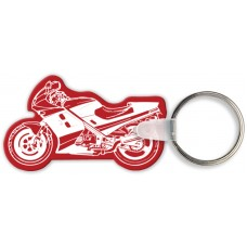 Screen Printed Soft Touch Keychains - Ninja Style Motorcycle