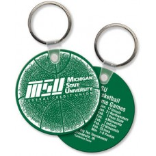Screen Printed Soft Touch Keychains - Large Round