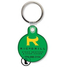 Screen Printed Soft Touch Keychains - Round with Tab