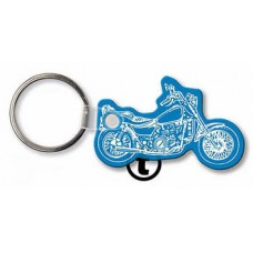 Screen Printed Soft Touch Keychains - Motorcycle