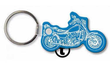 Soft Touch Keychains - Motorcycle