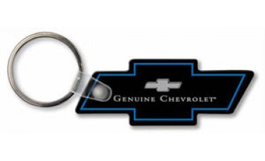 Soft Touch Keychains - Chevy Bowtie