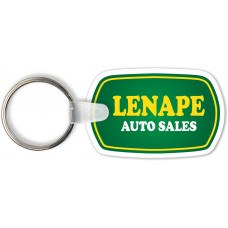 Full Color Digital Soft Touch Keychains - Oblong