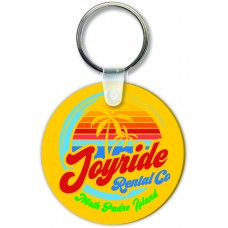 Full Color Digital Soft Touch Keychains - Large Round