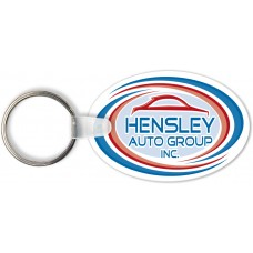 Full Color Digital Soft Touch Keychains - Large Oval