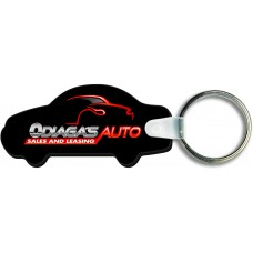 Full Color Digital Soft Touch Keychains - Car