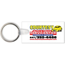 Full Color Digital Soft Touch Keychains - Rectangle