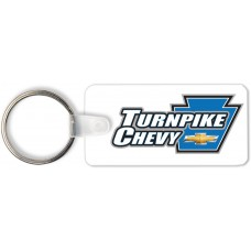 Full Color Digital Soft Touch Keychains - License Plate