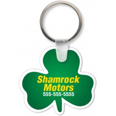 Full Color Digital Soft Touch Keychains - Shamrock