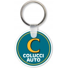 Full Color Digital Soft Touch Keychains - Small Round