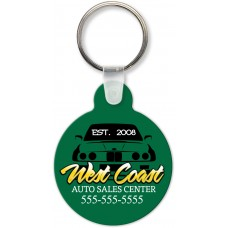 Full Color Digital Soft Touch Keychains - Small Round with Tab