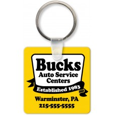 Full Color Digital Soft Touch Keychains - Large Square
