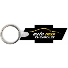 Full Color Digital Soft Touch Keychains - Chevy Bowtie
