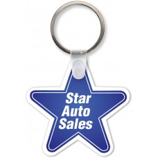 Full Color Digital Soft Touch Keychains - Star