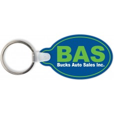 Full Color Digital Soft Touch Keychains - Oval with Tab