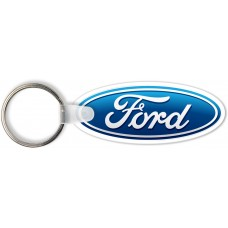 Full Color Digital Soft Touch Keychains - Ford Oval