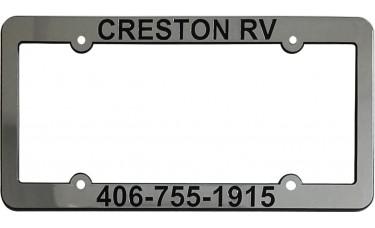Metallized Chrome-Faced Raised License Plate Frames