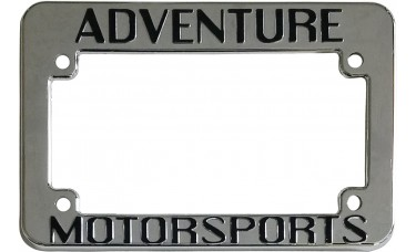 Chrome Plated Raised Plastic Motorcycle License Plate Frames