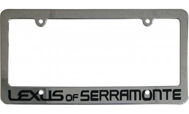 Chrome Plated Screen Printed Plastic License Plate Frames
