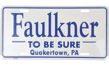 Raised Two Color Aluminum License Plates