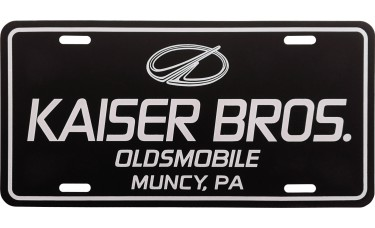 Flat One Color Aluminum License Plates