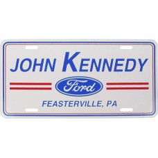 Flat Two Color Aluminum License Plates