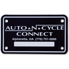 Full Color Digital Cardboard Motorcycle License Plates