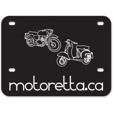 Screen Printed Polyethylene Motorcycle License Backing Plates