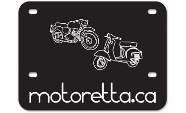 Screen Printed Polyethylene Motorcycle License Backing Plates