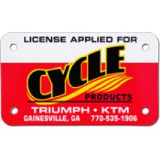 Full Color Digital Styrene Motorcycle License Plates (.030 Poly)