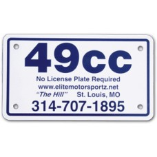 Full Color Digital Polyethylene Motorcycle License Plates (.023 Poly)