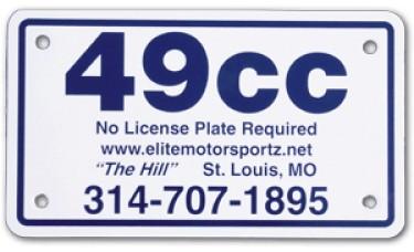 Full Color Digital Polyethylene Motorcycle License Plates (.055 Poly)