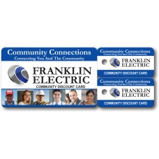 "Custom Full Color Plastic Membership Card Key Tags - 5-3/8"" x 2-1/8"" (Over-Laminated)"