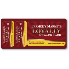 "Custom Full Color Plastic Membership Card Key Tags - 6-1/8"" x 2-5/8"" (Over-Laminated)"