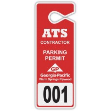 "Full Color Digital Reflective Parking Permit Hang Tags (3-1/2"" x 9-1/4"")"