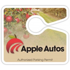 "Full Color Digital Parking Permit Hang Tags (4"" x 3-1/2"")"