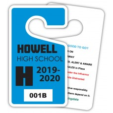 "Full Color Digital Parking Permit Hang Tags (2-3/4"" x 4-3/4"")"