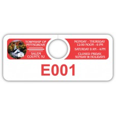 "Full Color Digital Parking Permit Hang Tags (4-3/4"" x 2"")"