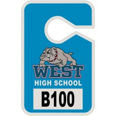 "Full Color Digital Reflective Parking Permit Hang Tags (3-1/2"" x 5-1/2"")"