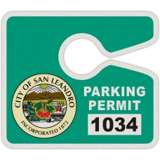 "Full Color Digital Reflective Parking Permit Hang Tags (4"" x 3-1/2"")"