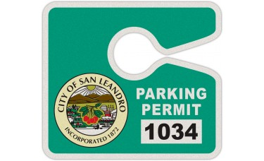 """Full Color Digital Reflective Parking Permit Hang Tags (4"""" x 3-1/2"""")"""