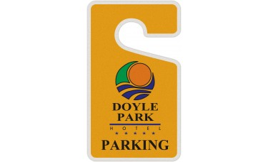 """Full Color Digital Reflective Parking Permit Hang Tags (2-3/4"""" x 4-3/4"""")"""
