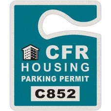 "Full Color Digital Reflective Parking Permit Hang Tags (2-1/2"" x 3"")"