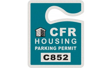"""Full Color Digital Reflective Parking Permit Hang Tags (2-1/2"""" x 3"""")"""