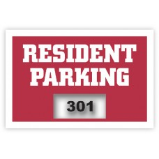 "Inside Application Parking Stickers - Screen Printed Clear PET (3"" x 2"")"