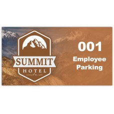 "Full Color Digital Outside Application Parking Stickers (4-1/4"" x 2-1/4"")"