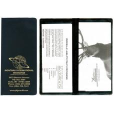 "Insurance Card Holders - 9-1/4""(W) x 4-1/4""(H) - Bifold - 2 Full Pockets"