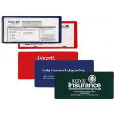 "Insurance Card Holders - 9-1/4""(W) x 4-1/4""(H) - Opens on Short Side"